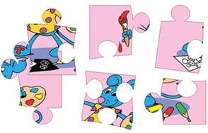 Puzzles, jeux en ligne et coloriages de la petite souris