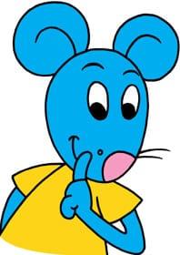 Dessin de Lali la petite souris sur la médaille