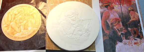Dessin, maquette et moulage pour la médaille
