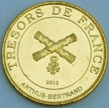 Revers des médailles Arthus Bertrand 2012