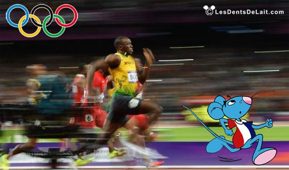JO finale du 100 mètres messieurs