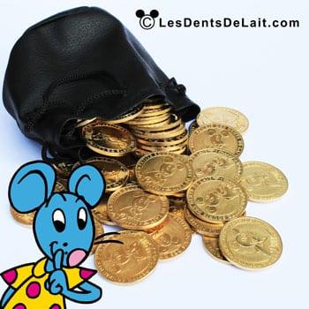 Bourse avec pièces en or