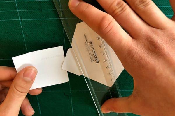 Fabrication d'un lettre miniature
