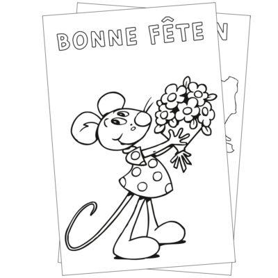 Cartes postales à colorier