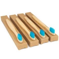 Lot de brosses à dent en bambou pour enfant
