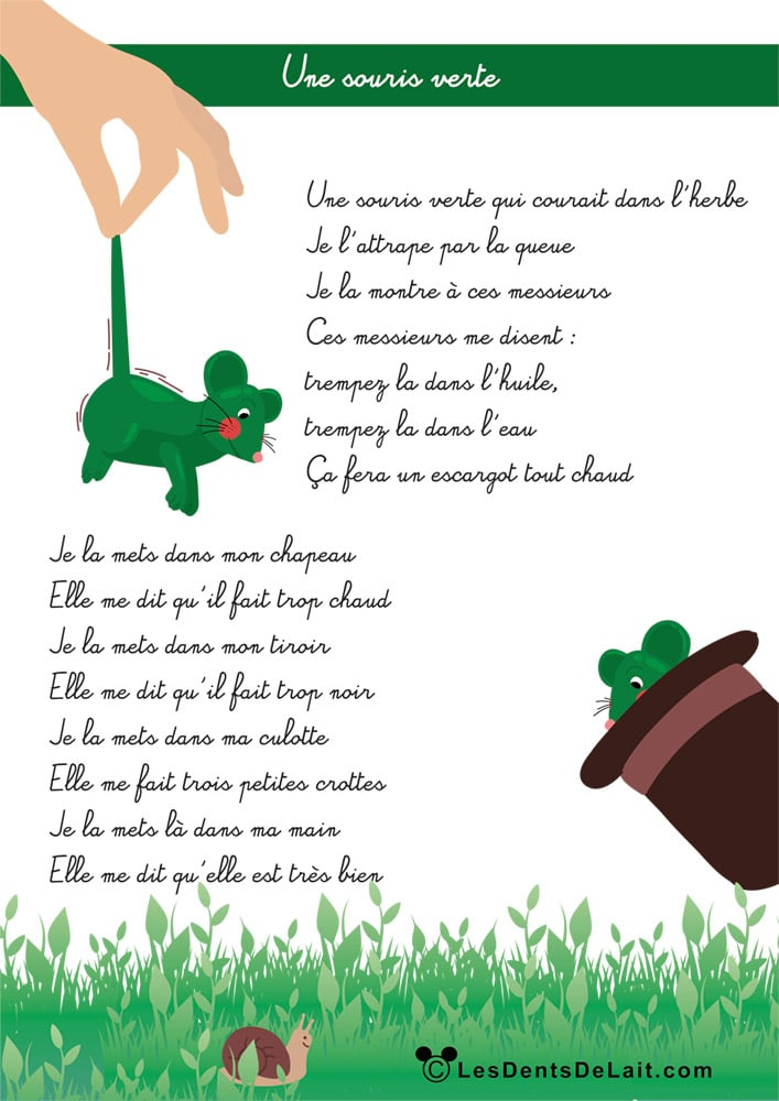 Paroles d'une souris verte