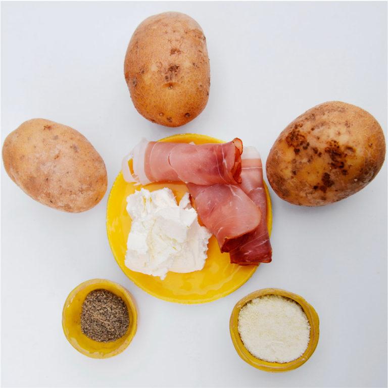 Ingrédients pour recette de patates au four