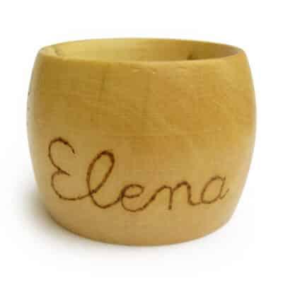 Rond de serviette avec le prénom Eléna